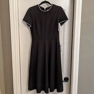 Victoria Pearly Trim Fit & Flare Dress
